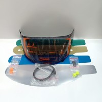 paket flat visor + tear off + post + talang air pnp kyt rc7 r10 k2r