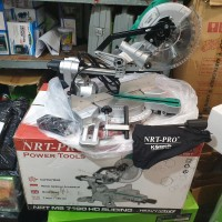 MESIN POTONG ALMUNIUM NRT PRO MS 7190 HD SLIDING MS7190 HD MITTER SAW