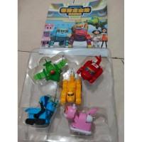 GOGO DINO TRANSFORMATION Mainan Anak Figur Robot Dino Gogo Dino