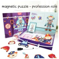 Zoetoys Magnetic Puzzle - Profession Role | mainan edukasi | edutoys