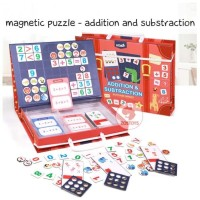 Zoetoys Magnetic Puzzle - Addition and Substraction | mainan edukasi |