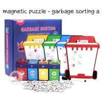 Zoetoys Magnetic Puzzle - Garbage Sorting A |mainan edukasi Suitcase