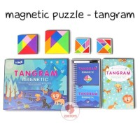 Zoetoys Magnetic Puzzle - Tangram | mainan edukasi anak UCMD Suitcase