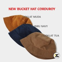 Topi Bucket Hat Coduroy