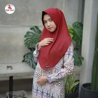 Warna Maroon. Khimar Aisyah