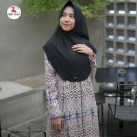 Warna Black. Khimar Aisyah