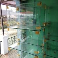 Aquarium kaca ukuran 80 x 40 x 50 cm collector item