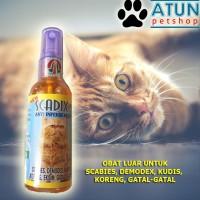 SCADIX SPRAY Cat Obat Scabies Infeksi Kulit Kucing Aman Untuk Kitte