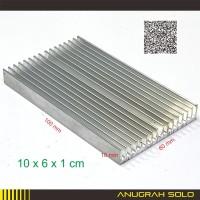 Heatsink Aluminium Pendingin Heat Sink Sirip 10cm x 6cm x 1cm