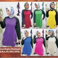Kaos Olahraga, Kaos Reglan Muslimah, Kaos Lengan Panjang Wanita