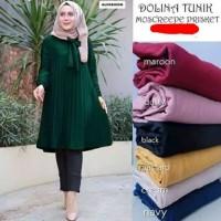 Pakaian Baju Atasan Wanita muslim Tunik Dolina Size L