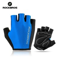 Sarung Tangan Sepeda Rockbros Gloves Half Finger Original Blue