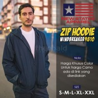 Jaket Hoodie Zipper Polos New States Apparel Windbreaker 9810 (COLOR)
