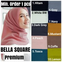 GROSIR!! kerudung BELLA SQUARE scarf hijab Segi empat motif