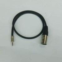 kabel audio 1mtr + jack 3.5mm stereo to xlr male