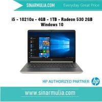 HP 14s-cf2005tx i5 - 10210u - 4GB - 1TB - Radeon 530 2GB Windows 10