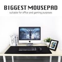 Large Mousepad Mouse Pad Gaming Kerja Sekolah Design Super besar Black