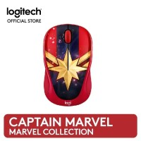 Logitech M238 Marvel Collection Wireless Mouse - Captain Marvel