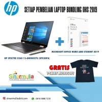 HP SPECTRE X360 13-AW0002TU Bundling MS. OFFICE HOME & STUDENTS 2019
