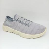 Sepatu Adidas Rajut Casual Sporty Pria Dewasa Abu Premium Murah