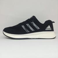 Sepatu Adidas Zoom Flyknit Running Lari Olahraga Pria Hitam Import
