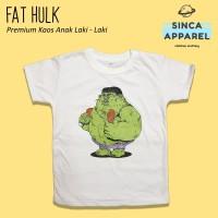 Baju Kaos Anak Laki - Laki Fat Hulk Lengan Pendek Premium