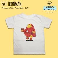 Baju Kaos Anak Laki - Laki Fat Ironman Lengan Pendek Premium