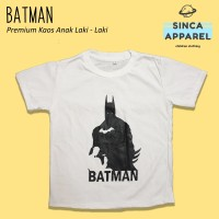 Baju Kaos Anak Laki - Laki Batman Superhero Lengan Pendek Premium