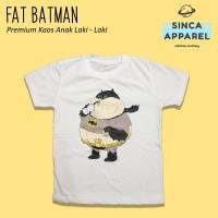 Baju Kaos Anak Laki - Laki Fat Batman Lengan Pendek Premium