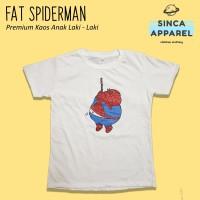 Baju Kaos Anak Laki - Laki Fat Spiderman Lengan Pendek Premium