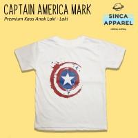 Baju Kaos Anak Laki - Laki Captain America Lengan Pendek Premium