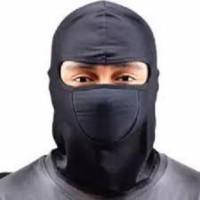 PAKET 5PCS Masker Ninja Balaclava Masker Hitam Polos (Elastis dan Tida