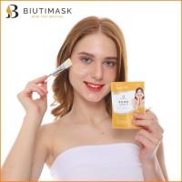 Biuti Mask Colostrum Masker Korea Agar Wajah Glowing