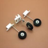 Roda pendarat pesawat landing gear set 3d printed bracket mounting