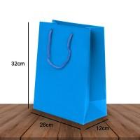 Paper Bag Shopping Bag 26 x 12 x 32 Bahan Premium Tebal Polos Tali Kur