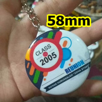 Souvenir PIN Gantungan Kunci 58mm acara seminar event murah