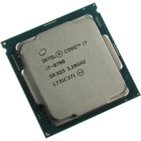 Processor Intel i7 8700 Tray Socket 1151 4.6Ghz - i7 Coffee lake + Fan