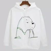 Jaket Sweater Hoodie Wanita Beruang/ Bear Pray