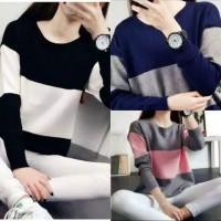 Jaket Sweater Wanita Rajut Knit Zebra