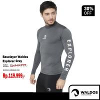 Baselayer Manset Waldos Explorer Grey Rashguard Gunung Renang Diving - Abu-abu, S