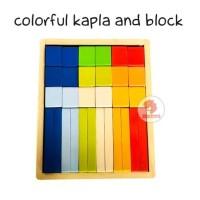 Zoetoys Colorful Kapla And Block | mainan edukasi | mainan anak