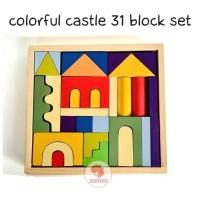 Zoetoys Colorful Castle 31 Block Set | mainan edukasi | mainan anak