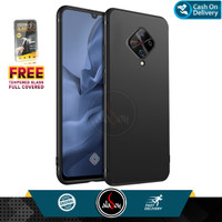 Case Vivo S1 Pro Soft Case Slim Matte Free Tempered Glass