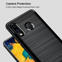 case samsung A20 ipaky fiber carbon