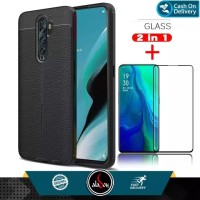 Aladoy Case Oppo Reno 2 Ultra Slim Premium Casing Free Tempered Glass