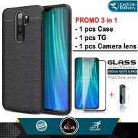 Aladoy Case Xiaomi Redmi Note 8 Pro Free Tempered Glass Layar dan Lens