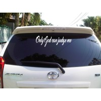 Sticker Decal Mobil Vinyl Reflektif Only God Can Judge Me