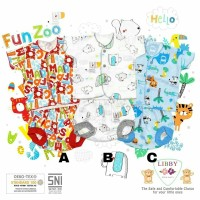 LIBBY Setelan Baju Bayi Lengan Pendek Celana Pop 3-6 bulan Boy Girl