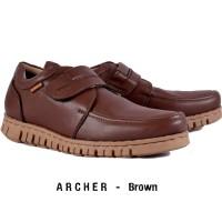Sepatu Slip On kulit asli Humm3r