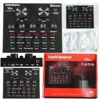 Soundcard Taffware V8S Bluetooth Audio USB External Live Broadcast